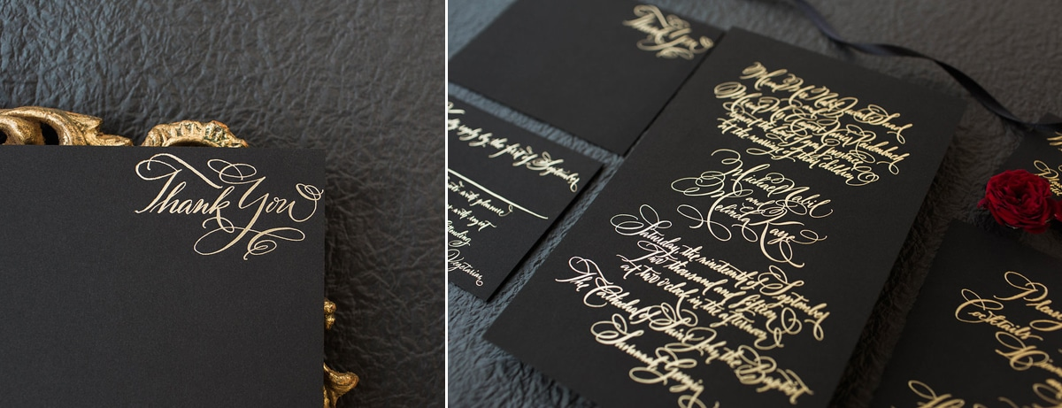 Custom calligraphy for wedding invitations fleur de letters invites 14 stopboris